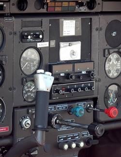 Een vliegtuig cockpit