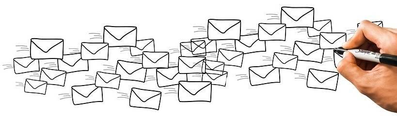 Zwevende envelopjes