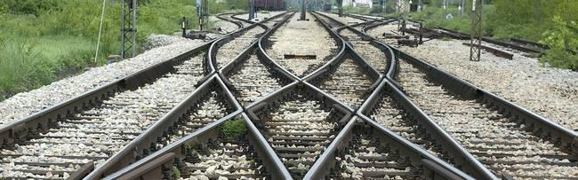 kruispunt van een spoor