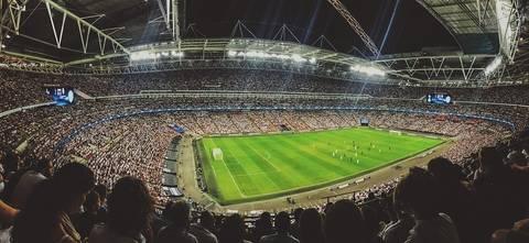 Publiek in een voetbalstadion