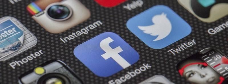 Iconen van verschillende soorten social media