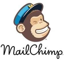 Het logo van e-mail programma mailchimp