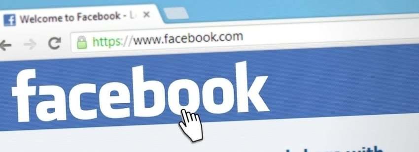 Een tabblad waarop de pagina van Facebook geopend is