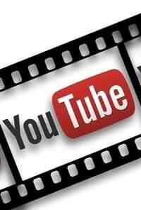 Het logo van Youtube in een ouderwetse filmrol
