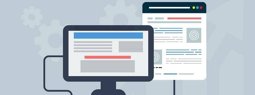Een monitor waarop een website pop-up op afgebeeld is