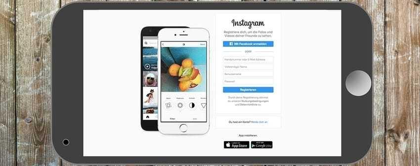 Een smartphone waarop Instagram te zien is