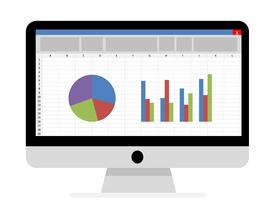Geld verdienen met Excel op een computerscherm