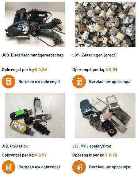 elektrische apparaten inleveren voor geld