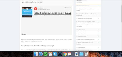 Voorbeeld van een audiobestand uit de training